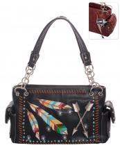 G939W123AR(BK)-wholesale-handbag-concealed-feather-arrow-embroidered-multicolor-studs-rhinestone-turquoise-western(0).jpg