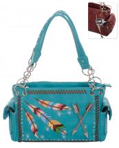 G939W123AR(TQ)-S15-wholesale-handbag-concealed-feather-arrow-embroidered-multicolor-studs-rhinestone-turquoise-western(0).jpg