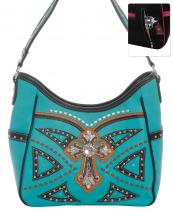 G979W122LCR(TQ)-wholesale-handbag-leatherette-cross-rhinestones-silver-faux-leather-stitch-turquoise-stone-concealed(0).jpg