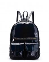 HAR25685(BK)-wholesale-backpack-hologram-metallic-patent-leatherette-flap-pocket-solid-color-rainbow-zipper-shiny(0).jpg