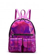 HAR25685(FU)-wholesale-backpack-hologram-metallic-patent-leatherette-flap-pocket-solid-color-rainbow-zipper-shiny(0).jpg