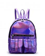 HAR25685(PP)-wholesale-backpack-hologram-metallic-patent-leatherette-flap-pocket-solid-color-rainbow-zipper-shiny(0).jpg
