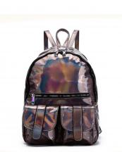HAR25685(PW)-wholesale-backpack-hologram-metallic-patent-leatherette-flap-pocket-solid-color-rainbow-zipper-shiny(0).jpg