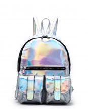 HAR25685(SL)-wholesale-backpack-hologram-metallic-patent-leatherette-flap-pocket-solid-color-rainbow-zipper-shiny(0).jpg