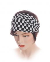 HB57(BK)-C-Wholesale-fabric-headwrap-elastic-scrunchie-handmade-checkered-(0).jpg
