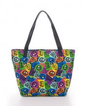 HBG101500(MUL)-wholesale-handbag-totebag-canvas-peace-sign-love-letter-dot-brush-painted-(0).jpg