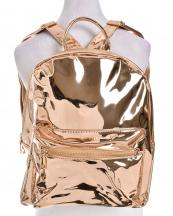 HBG102364RG(RSGD)-wholesale-backpack-patent-leatherette-shiny-solid-color-pocket-strap-glossy-plain-faux-leather(0).jpg