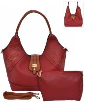 HC1661(RD)-wholesale-handbag-pouch-bag-2pc-set-gold-stud-flap-leatherette-strap-transform-wide-solid-color-faux(0).jpg