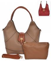 HC1661(TP)-wholesale-handbag-pouch-bag-2pc-set-gold-stud-flap-leatherette-strap-transform-wide-solid-color-faux(0).jpg