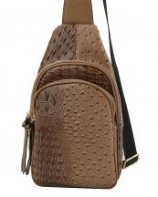 JNM0038(TAN)-wholesale-sling-bag-shoulder-alligator-ostrich-animal-pattern-vegan-leatherette-pocket-nylon-strap(0).jpg