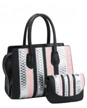 JY0157(BK)-wholesale-handbag-messenger-bag-set-2pc-alligator-ostrich-snake-woven-chevron-animal-pattern-zipper(0).jpg
