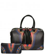 JY0222W(BK)-(SET-2PCS)-wholesale-handbag-wallet-2pc-set-multicolor-ethnic-tassel-fringe-vegan-leather-gold-tribal-pattern(0).jpg