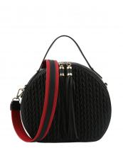 JY0254(BK)-wholesale-messenger-bag-chevron-embossed-solid-color-tassel-stripe-shoulder-strap-circled-shape(0).jpg