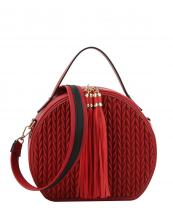 JY0254(RD)-wholesale-messenger-bag-chevron-embossed-solid-color-tassel-stripe-shoulder-strap-circled-shape(0).jpg