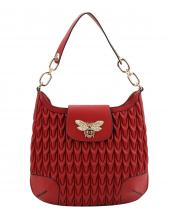 JY0267(RD)-wholesale-handbag-snake-bee-charm-animal-pattern-vegan-leatherette-rhinestone-pearl-faux-flap-gold(0).jpg
