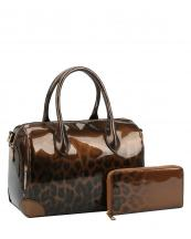JY0288W(BR)-(SET-2PCS)-wholesale-handbag-wallet-leopard-animal-pattern-gradient-patent-vegan-leatherette-metallic(0).jpg