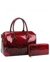 JY0288W(BUR)-(SET-2PCS)-wholesale-handbag-wallet-leopard-animal-pattern-gradient-patent-vegan-leatherette-metallic(0).jpg