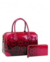 JY0288W(FU)-(SET-2PCS)-wholesale-handbag-wallet-leopard-animal-pattern-gradient-patent-vegan-leatherette-metallic(0).jpg