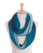 KA218(Blue)-wholesale-infinity-scarf-polyester-pleated-two-tone-gradation-(0).jpg