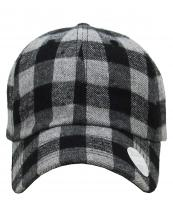 KBEPLAID(DGYBK)-wholesale-cap-plaid-checkered-pattern-fabric-two-tone-black-baseball-polyester-cotton-classic-buckle(0).jpg