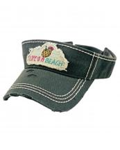 KBR142(BK)-wholesale-sun-visor-hair-embroidered-vintage-torn-stitch-cotton-adjust(0).jpg