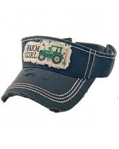 KBR143(BK)-wholesale-sun-visor-hair-embroidered-vintage-torn-stitch-cotton-adjust(0).jpg
