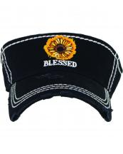 KBR149(ONYX)-wholesale-sunflower-blessed-vintage-visor-star-and-foot-print-embroidered-cotton(0).jpg