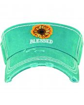 KBR149(TQ)-wholesale-sunflower-blessed-vintage-visor-star-and-foot-print-embroidered-cotton(0).jpg
