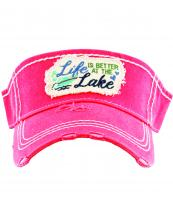 KBR153(HPK)-wholesale-Life-is-better-at-the-lake-vintage-visor-star-and-foot-print-embroidered-cotton(0).jpg