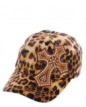 KBV1012(BR)-wholesale-baseball-cap-stitched-printed-leopard-topaz-rhinestone-cross-velcro-closure-embroidered(0).jpg