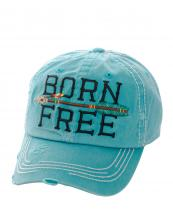 KBV1023(TQ)-wholesale-baseball-cap-born-free-arrow-embroidered-stitched-vintage-torn-cotton-multi-color-velcro(0).jpg