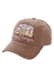 KBV1034(ESP)-wholesale-baseball-cap-happy-camper-camp-trailer-rv-vintage-torn-stitched-size-adjustable-cotton(0).jpg