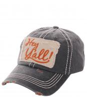 KBV1046(BK)-wholesale-baseball-cap-hey-yall-layered-denim-vintage-torn-stitched-velcro-cotton-hat-(0).jpg