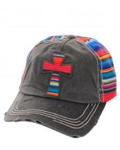 KBV1047KBV1074(BK)-W10-wholesale-baseball-cap-serape-cross-multicolor-stripe-vintage-torn-stitched-velcro-cotton-hat-(0).jpg