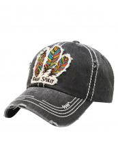 KBV1050(BK)-W99-wholesale-baseball-cap-feather-multicolor-free-spirit-vintage-torn-stitched-velcro-cotton-hat-(0).jpg