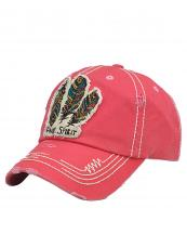 KBV1050(HPK)-W94-wholesale-baseball-cap-feather-multicolor-free-spirit-vintage-torn-stitched-velcro-cotton-hat-(0).jpg