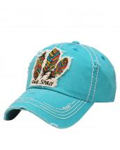 KBV1050(TQ)-W99-wholesale-baseball-cap-feather-multicolor-free-spirit-vintage-torn-stitched-velcro-cotton-hat-(0).jpg