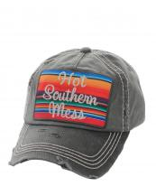 KBV1070(BK)-wholesale-baseball-cap-hot-southern-mess-embroidered-serape-vintage-torn-stitch-cotton-velcro(0).jpg