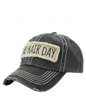 KBV1073(BK)-W93-wholesale-baseball-cap-bad-hair-day-embroidered-vintage-torn-stitch-cotton-velcro-size-adjustable(0).jpg
