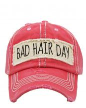 KBV1073(HPK)-W93-wholesale-baseball-cap-bad-hair-day-embroidered-vintage-torn-stitch-cotton-velcro-size-adjustable(0).jpg