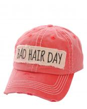 KBV1073(RD)-wholesale-baseball-cap-bad-hair-day-embroidered-vintage-torn-stitch-cotton-velcro-size-adjustable(0).jpg