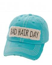 KBV1073(TQ)-wholesale-baseball-cap-bad-hair-day-embroidered-vintage-torn-stitch-cotton-velcro-size-adjustable(0).jpg