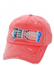 KBV1077(HPK)-wholesale-baseball-cap-serape-arrow-embroidered-vintage-torn-stitches-cotton-velcro-follow-your-brim(0).jpg