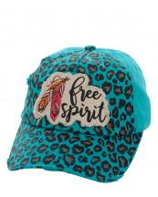KBV1099(TQ)-wholesale-cap-baseball-leopard-free-spirit-feather-multicolor-embroidered-washed-vintage-torn-cotton(0).jpg