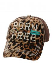 KBV1113(DBR)-wholesale-cap-born-free-arrow-leopard-vintage-washed-baseball-multicolor-embroidered-brim-stitch(0).jpg
