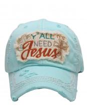KBV1125(DBL)-wholesale-cap-embroidery-y-all-need-jesus-heart-cross-vintage-torn-baseball-hook-loop-closure-cotton(0).jpg