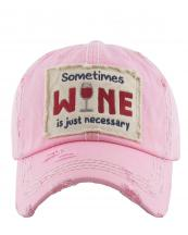KBV1126(PK)-W96-wholesale-cap-embroidery-sometimes-wine-glass-necessary-vintage-torn-baseball-hook-loop-cotton(0).jpg