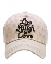 KBV1131(ST)-W91-wholesale-cap-live-laugh-love-heart-mesh-vintage-torn-baseball-cotton-emboss-embroidered-trucker(0).jpg