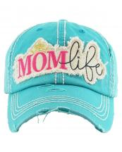 KBV1142(TQ)-wholesale-cap-mom-life-star-tiara-lurex-bling-embroidered-washed-vintage-torn-stitch-baseball-cotton(0).jpg
