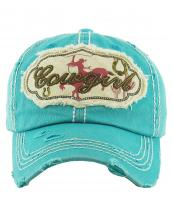 KBV1146(TQ)-wholesale-cap-baseball-cowgirl-horse-ride-horseshoe-cactus-lasso-embroidered-vintage-torn-cotton(0).jpg